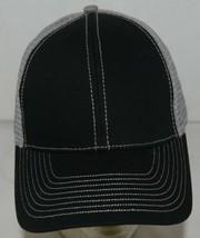 Mega Cap 7641 Grey Mesh Back Black Twill Front Trucker Hat image 2