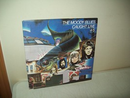 the Moody Blues Caught Live +5 Vinyl Record double live Album 1977 Londo... - $14.85