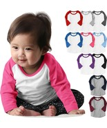 Infant Baseball Raglan T-Shirts 3/4 Sleeve Jersey Tee Boys Girls Baby Pr... - $300.00