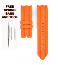 Nautica N15565G 24mm Orange Rubber Watch Strap Band NTC117 - $28.93