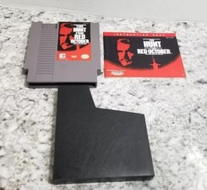 THE HUNT FOR RED OCTOBER-Nintendo NES Game with Manual and Game Sleeve  - $8.90