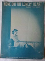 """Vintage Sheet Music """"None But The Lonely Heart"""" - $12.86"""