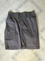 womens size 10 GAP khaki MATERNITY SHORTS stretch gray Lilac Color 10 1/... - $16.69