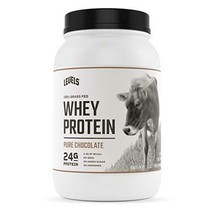 Levels 100% Grass Fed Whey Protein, No GMOs, Pure Chocolate, 2LB - $37.44