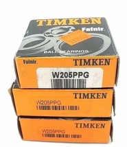 LOT OF 3 NIB TIMKEN W205PPG BALL BEARINGS RADIAL DEEP GROOVE 25X25X20.6MM