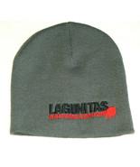 NEW LAGUNITAS Brewing Company Gray Adult Embroidered PROMO Skull Cap Bea... - $24.73
