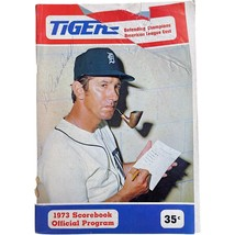 Detroit Tigers Baseball Vintage 1973 Souvenir Scorebook and Official Pro... - $14.99
