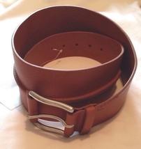 Ralph Lauren Womens Tan Brown Leather Belt Size Large Silver Tone Buckle - $188.37
