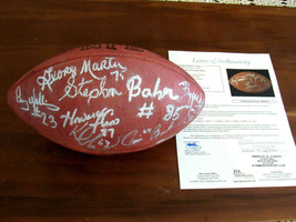 NEW YORK GIANTS 1980'S CARSON BANKS MORRIS MARTIN SIGNED AUTO FOOTBALL J... - $346.49