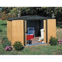"Spacious Garden Shed Horizontal Steel Doors Patio Yard Storage 8x6"" Wood... - $588.78"