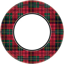 60 pcs. Holiday Charm Big Party 9-inch Paper Plates - £19.63 GBP