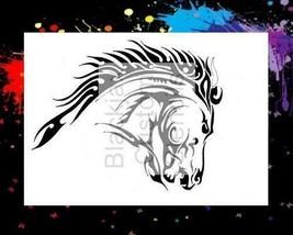 """NEW! 15""""x12"""" Stencil Flaming Horse Head  Airbrush Stencil,Template - $14.01"""