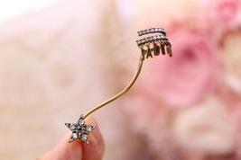 NEW AUTH Christian Dior 2019 J'ADIOR EARRINGS GOLD STAR CRYSTAL DANGLE image 3