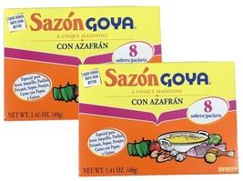 Goya Sazon Con Azafran - Latin Seasoning with Saffron 1.41 oz 2 Pack - $7.91