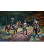 US ARMY 1802-1810 Commissioned Cavalry Officers & Private - COLOR Litho ... - $13.49