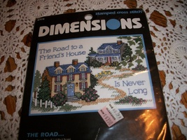 Dimensions Stamped Cross Stitch Kit 6775~The Road - $10.00