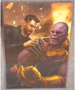 Avengers Thor vs Thanos Glossy Art Print 11 x 17 In Hard Plastic Sleeve - $24.99