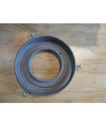 "Polished Aluminum  Gas Pump Globe Ring Holder 6""  Base  -MADE in USA  - $25.00"