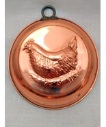 Vintage Extra Heavy Copper Jello Mold, Wall Hanging Decor Hen on Nest - $17.81