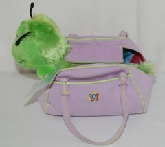 Webkinz HM434 Plush Green Caterpillar Purple Pet Carrier 9 Inches Age 3 plus image 2