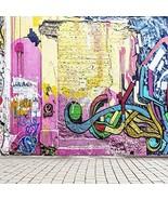Yeele 3x5ft Graffiti Backdrops Modern Graffiti Wall Brown Ground Band Co... - $9.76