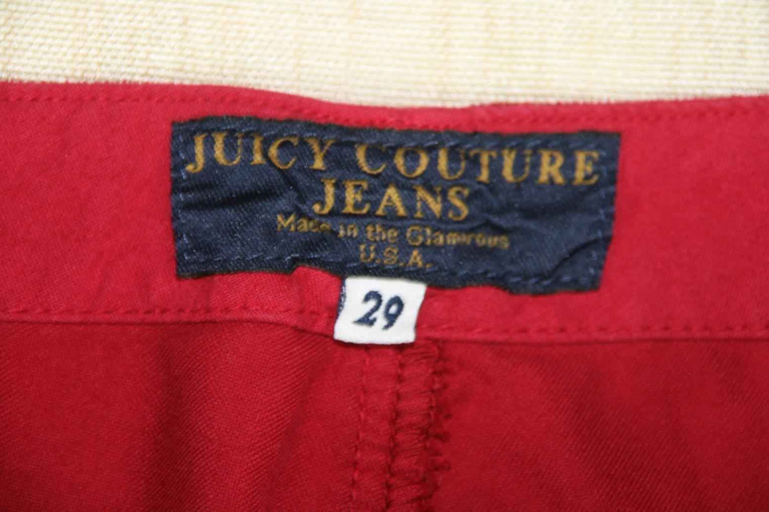 Juicy Couture Womens Velvet Velour  Pants Sz 29 X 34 image 3