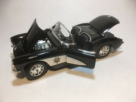 Maisto 1957 Chevy Corvette Convertible State Highway Patrol 1:18 Die-cas... - $14.85