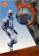 1997 UPPER DECK PRO VIEW  FOOTBALL CARD PV24 HERMAN MOORE LIONS - $0.94