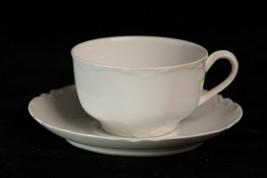 Haviland Limoges Ranson White Flat Tea Cup & Saucer Set(s) - $23.76