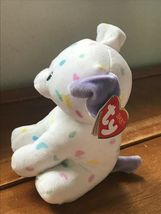 Gently Used Ty Sprinkles White with Pastel Confetti Plush Puppy Dog Stuffed Anim image 4