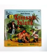 Vintage Disney TREASURE ISLAND Read Along Book & 33 1/3 RPM Disneyland R... - $9.99