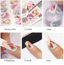 HS Store - 12 pcs/set BN853-864 Nail Art Sticker Retro Styles for Nail Polish image 2