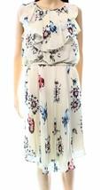 2279-1 Anne Klein Women's Floral Ruffle Blouson Dress Beige Size 10 $129 - $27.76