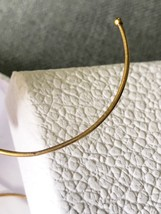 SALE* AUTHENTIC Christian Dior 2019 J'ADIOR Star Hoop Earrings Aged Gold image 5