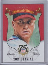 TOM GLAVINE 2014 Panini Hall of Fame Diamond Kings Red #50/75 #98 (C5719) - $3.56