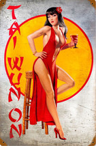 Tai Wun On Pin-Up Greg Hildebrandt Metal Sign - $29.95