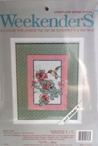 Weekender Snack time cross stitch kit 02723 Hummingbird feeding mat included - $11.99