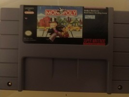 SNES Monopoly Game (Super Nintendo) Tested/Cleaned - Board Game Port - $4.46