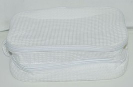 Terry Town CBW001 Waffle Weave Cosmetic Bag Color White image 1