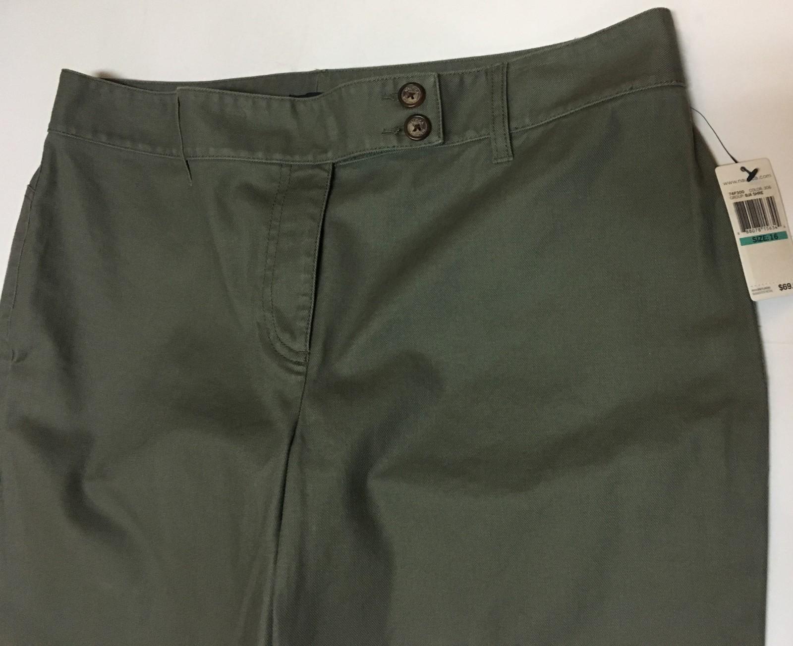 Nautica Jeans Sz 16 Women's Dark Green Khaki