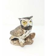 Vtg Homco Owl figurine # 1114 collectible home decor porcelain animal bird - $17.82