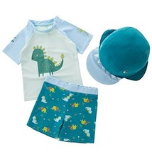 MANNEW Dinosaur Suit Toddler Boys Swimsuit Beach Shorts Kids Bathing Sui... - $18.41