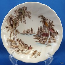 """Johnson Brothers The Old Mill Berry Bowl Brown w Multicolor  5-1/8"""" - $7.43"""