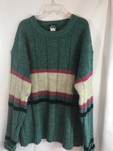 Vintage Woolrich Wool Blend Crewneck Sweater Green Gray Size Large Mens - £23.25 GBP