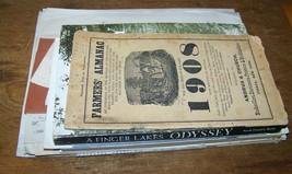 42pc LOT ANTIQUE TOMKINS COUNTY NY ITHACA EPHEMERA BILLHEADS BROCHURE BO... - $34.64