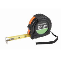 """25 Ft. X 1"""" Tape Measure Nonslip Rubber Shell Graduated in 1/16"""" 1/8"""" - $3.26"""
