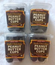 New Trader Joe's Dark Chocolate Peanut Butter Cups 4 Pack No Artificial Flavors - $37.13