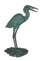 "Heron Fountain Bronze Statue -  Size: 14""L x 24""W x 26""H. - $720.00"
