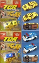 1991 TYCO TCR Total Control Racing Ford Mustang +Chevy VAN Slot less Car Carded! - $19.79