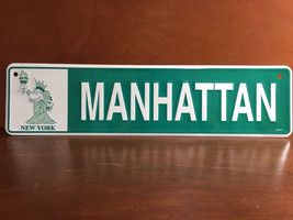 Disney Mickey Minnie Mouse New York Manhattan Liberty Metal Street Sign Plate - $46.74